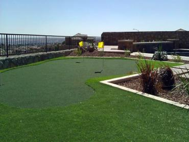 Artificial Grass Photos: Artificial Grass Installation Staples, Texas Putting Green Flags