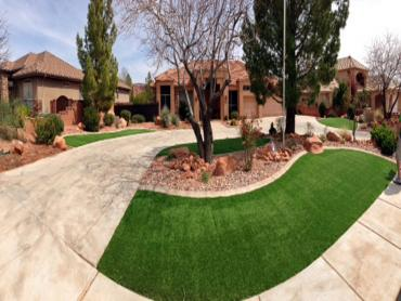 Artificial Grass Photos: Synthetic Lawn Castroville, Texas Paver Patio, Front Yard Ideas